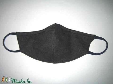 Drótos Szájmaszk fülre akasztható arcmaszk orrmerevítős textil maszk sötétkék színes csillagokkal - Meska.hu