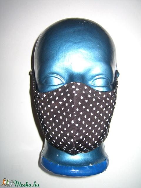 Szájmaszk fülre akasztható arcmaszk 2in1 textil maszk kártya mintás - maszk, arcmaszk - női - Meska.hu