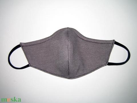Szájmaszk fülre akasztható arcmaszk 2in1 textil maszk szürke fehér körös - maszk, arcmaszk - női - Meska.hu