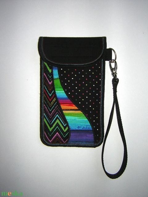 Rendelhető mobiltok kis csuklótáska plus-os méretű okostelefonhoz XL-es telefon tartó  színes - Meska.hu