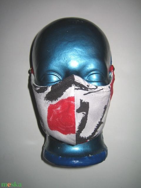 Egyedi szájmaszk orrmerevítős fülre akasztható arcmaszk textil maszk  - Meska.hu
