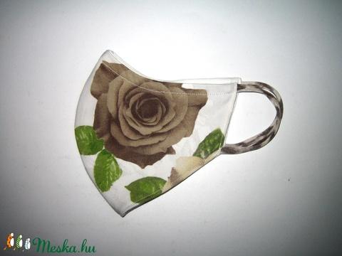 Egyedi Szájmaszk fülre akasztható arcmaszk textilmaszk rózsás - Meska.hu