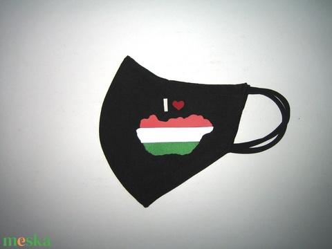 Drótos Szájmaszk fülre akasztható arcmaszk nemzeti textil maszk  I love Magyarország  - Meska.hu
