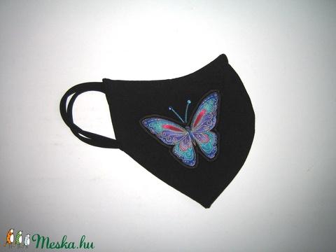Egyedi szájmaszk fülre akasztható orrmerevítős textil maszk Pillangó - Meska.hu
