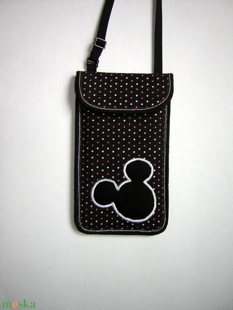 Állítható pántos mobil tok  Plus-os méretű telefonokhoz  Mickey egér - Meska.hu
