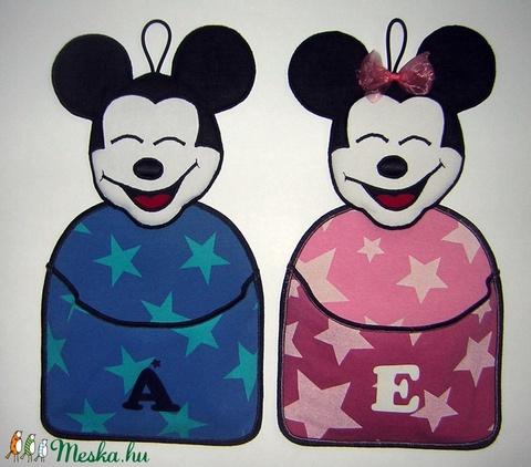 Minnie egeres zsebes fali tárolók testvéreknek ikreknek Minnie és Mickey ajtódísz - Meska.hu