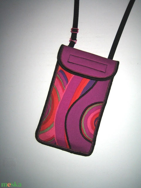 Mobil Tok állítható pánttal  XL telefon tartó Nyakba akasztható kistáska - Meska.hu