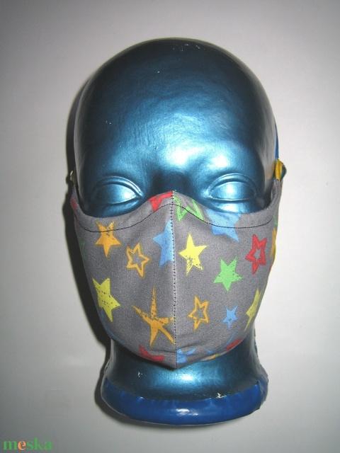 Csillagos szájmaszk orrmerevítős arcmaszk fülre akasztható textil maszk - Meska.hu