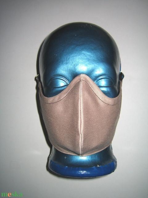 Speciális maszk szemüvegeseknek fülre akasztható arcmaszk  2in1  fekete-nud - Meska.hu