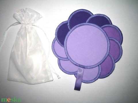 10 db Arctisztító korong mosható-NoWaste a lila 3 árnyalata - szépségápolás - arcápolás - arctisztító korong - Meska.hu
