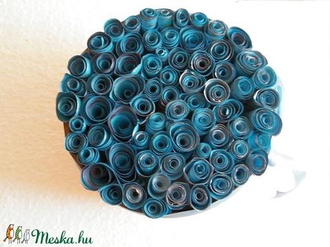 Kék romantika virágbox, asztali dísz - Meska.hu