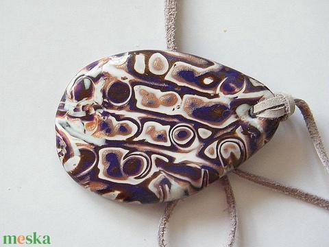 Padlizsán medál - ékszer - nyaklánc - medálos nyaklánc - Meska.hu