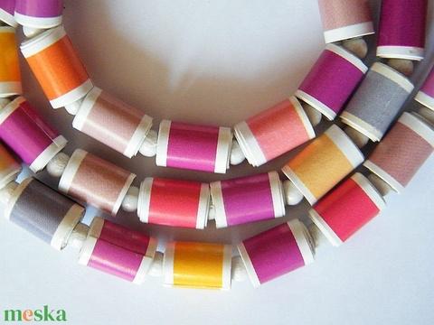 Meleg színek nyaklánc újrahasznosított papírból - Meska.hu