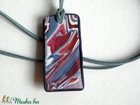 Piros-kék életfa medál - ékszer - nyaklánc - medálos nyaklánc - Meska.hu