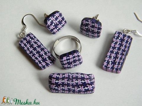 Lila hangyák ékszerszett: medál, karkötő, fülbevaló, gyűrű és bross - ékszer - ékszerszett - Meska.hu