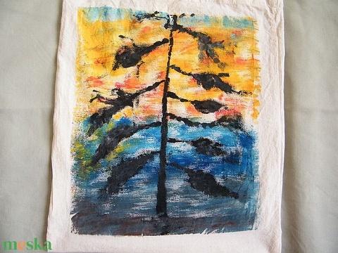 Fa alkonyatban textilszatyor - Meska.hu