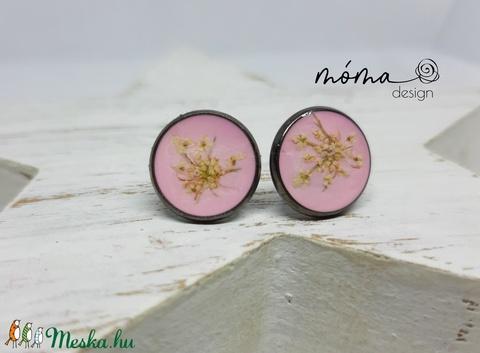 Halvány rózsaszín műgyanta fülbevaló - Meska.hu