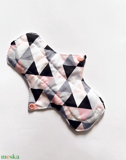 Mosható eü betét, menstruációs betét,normál, rózsaszín háromszöges - Meska.hu