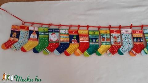 Adventi kalendárium  karácsonyi kis csizmák,lakásdekorációra is (MonikaFashion) - Meska.hu