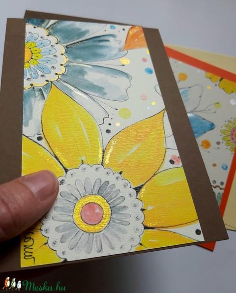 Akvarell virágos képeslap  - Meska.hu