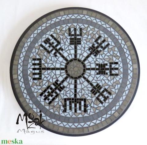 Viking iránytű – mozaikozott komplett asztal (MozaikMagus) - Meska.hu