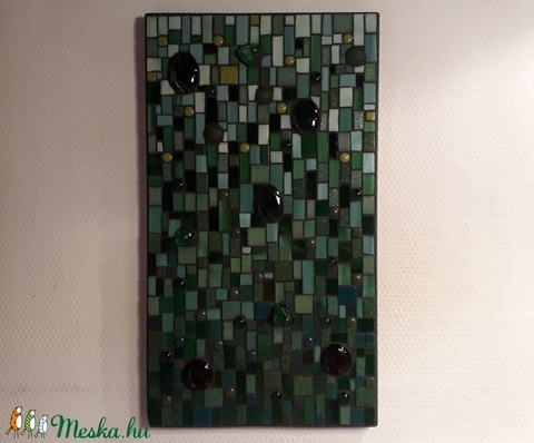 Csupa zöld - üvegmozaik kép (MozaRozi) - Meska.hu