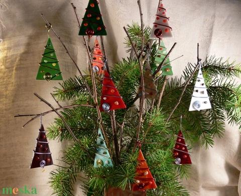 Karácsonyfadísz 5 db-os vegyes színek (MozaRozi) - Meska.hu