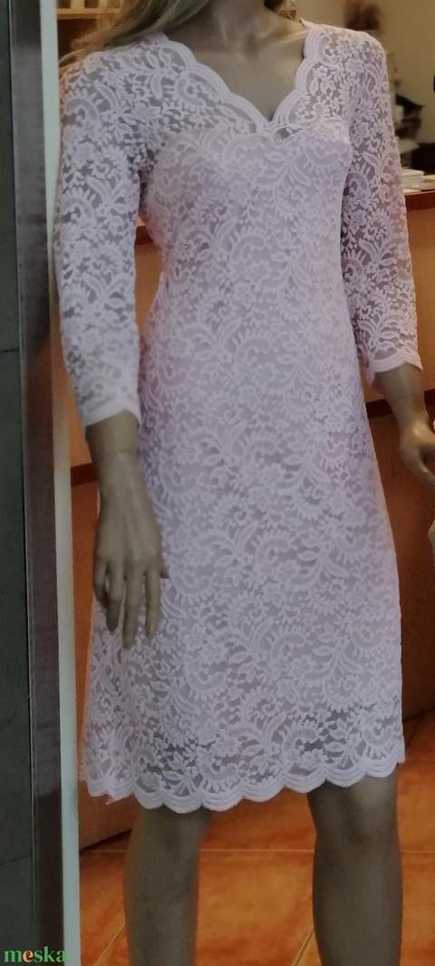 Csipke ruha rózsaszín  (nagyilona) - Meska.hu