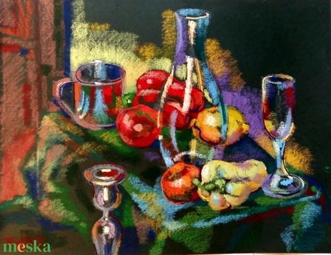 Porpasztell asztali csendélet (Nana83) - Meska.hu