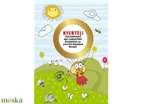 Titkos üzenet egyedi kaparós sorsjegy Vicces ajándék Különleges bejelentő bagoly baglyos Szülinapi képeslap kisérőkártya (nanetto) - Meska.hu