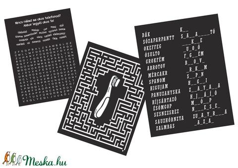 Fürdőszoba házirend vicces szókereső szórejtvény labirintus házi áldás családi szabályok házavató poszter titkos üzenet - Meska.hu