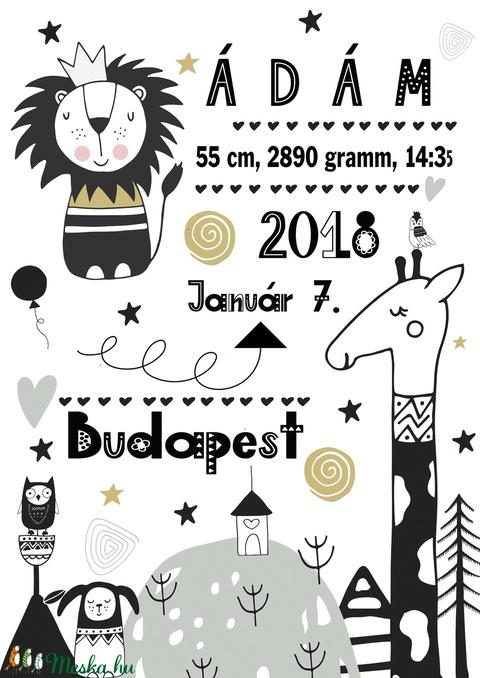 Kisfiú emléklap baba statisztika poszter KERETTEL, Szülinapi babalátogató ajándék, Gyermekáldás baba statisztika kép (NaToDesign) - Meska.hu