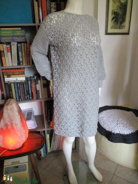 Ezüst színű horgolt női ruha - Meska.hu