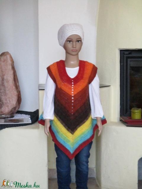 Őszi színű horgolt kislány ruha - Meska.hu