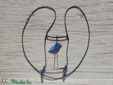 Varjú vagy rigó? Vagy efféle rafinált madárka tűzzománc nyaklánc - Meska.hu