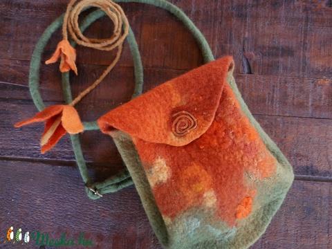 Narancs virág - nemez táska (Nemezes) - Meska.hu