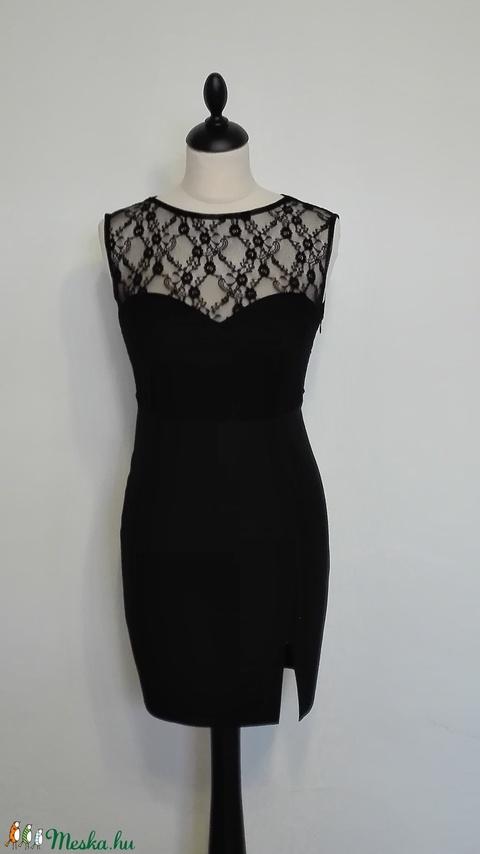 Csipkés fekete ruha (nicoledesign) - Meska.hu