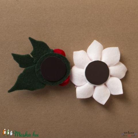 Háromrészes filc virág motívumú hűtőmágnes szett (több változat) (nodino) - Meska.hu