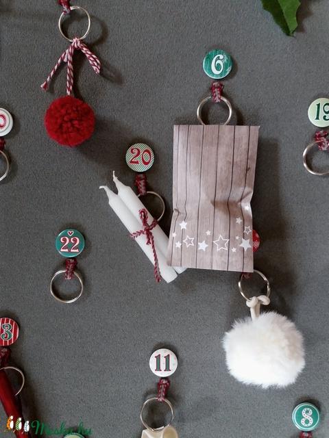 Adventi naptár kulcskarikás (Noemi8501) - Meska.hu