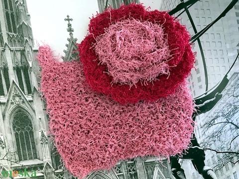 Cleany dörzsi rózsa arctisztító korong, mosogató szivacs egyedi kézzel horgolt pink rózsaszín fürdő, konyhai kiegészítő (noesz65) - Meska.hu