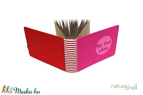 Fotóalbum babáknak / gyerekeknek - pink és piros (noteshell) - Meska.hu
