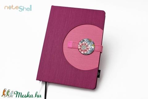 XL-es határidőnapló / notesz - lila-rózsaszín (noteshell) - Meska.hu