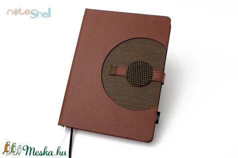 XL-es határidőnapló / notesz - barna (noteshell) - Meska.hu