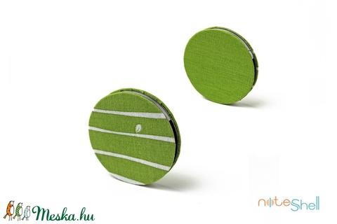 KORONG-zöld-fehér-csíkos (noteshell) - Meska.hu