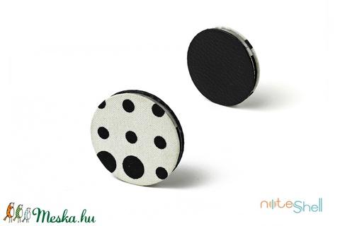 KORONG-fekete-fehér-pöttyös (noteshell) - Meska.hu