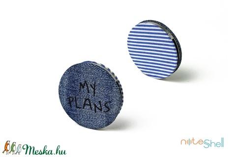 KORONG-farmer-kék-fehér-csíkos (noteshell) - Meska.hu
