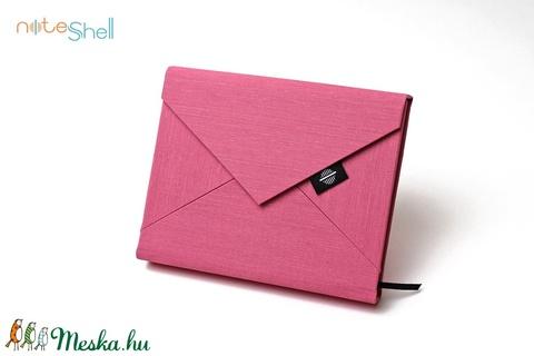 M-es határidőnapló/notesz-pink-piros csíkos boríték (noteshell) - Meska.hu