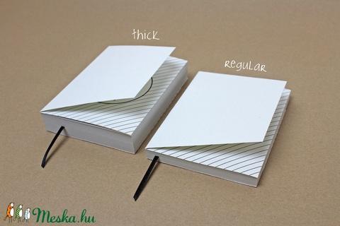 M-es 'thick' határidőnapló/notesz - fekete-fehér pöttyös (noteshell) - Meska.hu