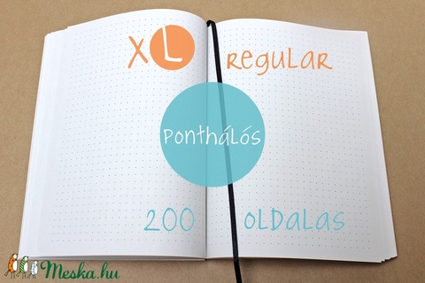 XL-es PONTHÁLÓS noteszBELSŐ (noteshell) - Meska.hu