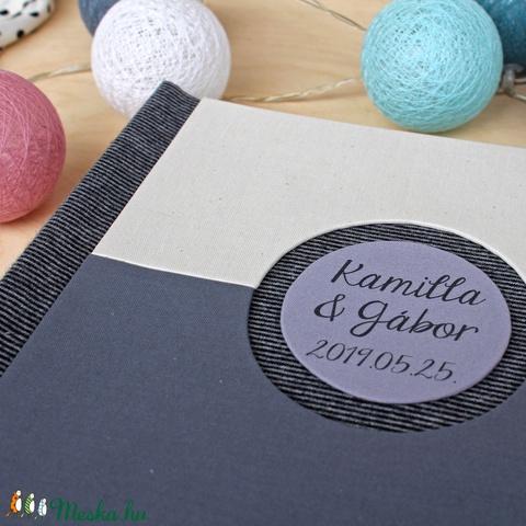 Esküvői fotóalbum - fehér és szürke (noteshell) - Meska.hu